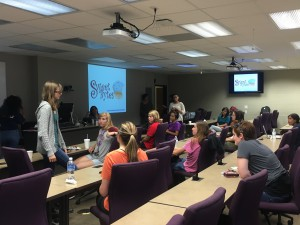 Women of CyberEagles meeting.