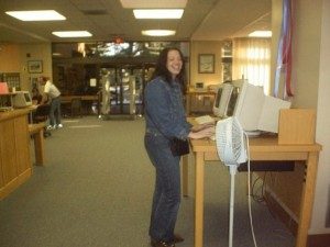 April Crockett at the Putnam County Library